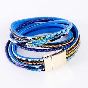 Jewelry - 🌵Multi Snake Print Leather Double Wrap Bracelet🌵